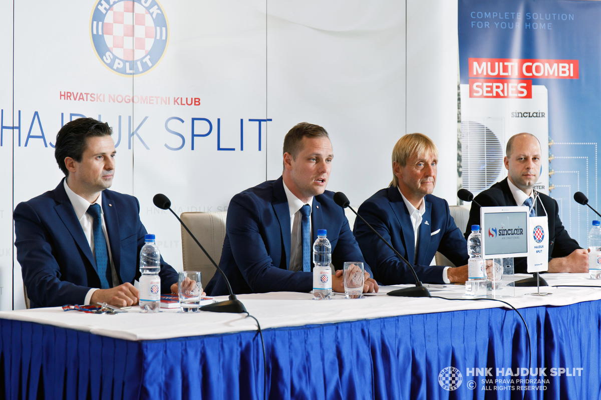 SINCLAIR as a sponsor of the famous Croatian football club HNK Hajduk Split