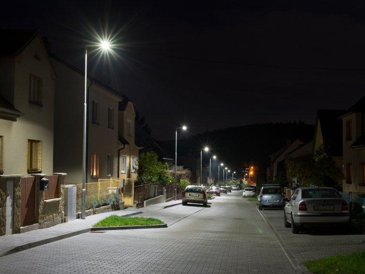 LED street lights for village